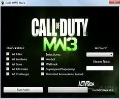 MW3 Hacks Cheat 2016 tool download. With updated MW3 Hacks you will have just fun. Try MW3 Hacks tool. MW3 Hacks working with last update.