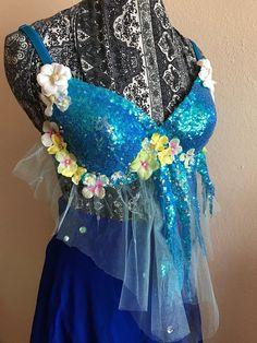 Blue Mermaid Water Fairy Bodice