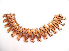 Renoir Bracelet Vintage RENOIR Copper Curved Link by TheCopperCat