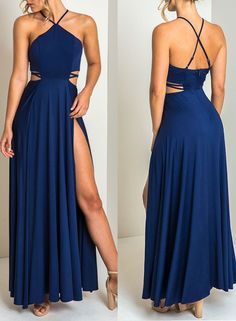Royal blue chiffon prom dress,Long Formal Party Gown,5126 by Dress Storm, $136.00 USD