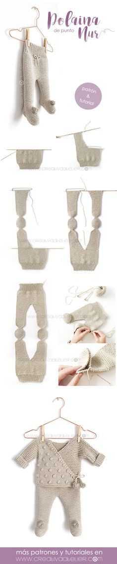 Polaina de punto NUR – Tutorial y Patrón – - Punto a dos agujas babysachen anleitungen Baby Knitting Patterns, Knitting For Kids, Crochet Patterns, Style Baby, Knitted Baby Clothes, Diy Baby Gifts, Baby Kind, Baby Baby, Knitted Dolls