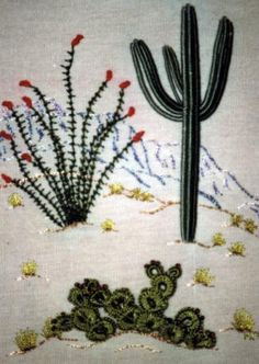 Cactus Trio - A southwestern Brazilian Embroidery