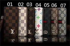 Iphone6 4.7, iphone6 plus 5.5,iphone5 LV/Gucci leather case covers with hand strap.