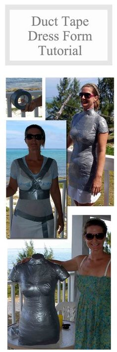 Make your own dress form body double using duct tape, newspaper and expanding foam. Step by step photo tutorial. So Sew Easy.