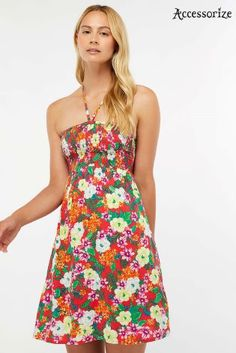 6d6a468238cb Buy Accessorize Hothouse Tropical Floral Bandeau Dress from the Next UK  online shop