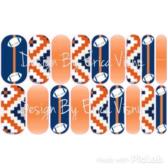 Custom Jamberry Nail Wrap Designs. This one is All Things Chicago Bears!! Please email me if you would like to order these. $19 plus FREE SHIPPING! jamswitheviz@gmail.com