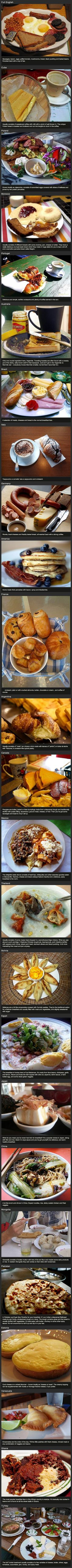 #Breakfast From various countries around the world <--- Eat like your favorite Hetallia character, also, they missed a L in Australlia
