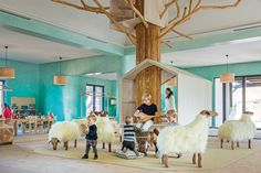 A fun tree house to play hide and seek at Royal Palm Marrakech Kids Club. Kids Play Spaces, Kids Play Area, Kids Room, Kids Indoor Playground, Playground Design, Royal Palm Marrakech, Marrakech Morocco, Marrakech Hotels, Corner Hotel