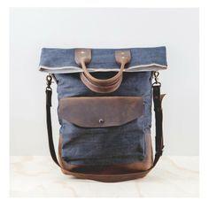 Repurposed, Reused & Recycled_Handmade messenger bag at @shopboutonne