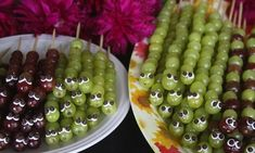 Caterpillar On A Stick - 1000 Funny Food Recipes