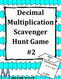 Great activity to get students excited about decimals! My students loved searching for the scavenger hunt problems around the classroom.