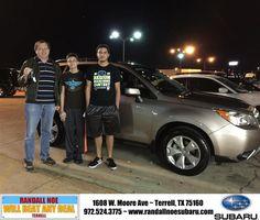 Congratulations to Pioter Goldberg on your #Subaru #Forester purchase from Ryan Ruiz De Val at Randall Noe Subaru! #NewCar