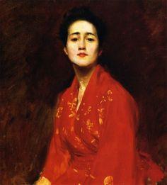 Study of Girl in Japanese Dress, William Merritt Chase