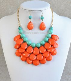 3 Layers Bubble Necklace,Bib Necklace, Teardrop Necklace, Statement Necklace ,Jewelry on Etsy, $12.90