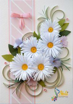 Neli Quilling Art: Quilling card - daisies
