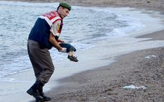 The photograph taken by Nilufer Demir of a Turkish police officer carrying the   lifeless body of Aylan Kurdi on a beach near the Turkish resort of Bodrum   has become the catalyst for action as Europe's migrant and refugee crisis   deepens. Here is a collection of some of the most powerful photographs ever   taken.