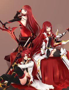 Blazing Heart, Crimson Avenger, Grand Master - Elsword