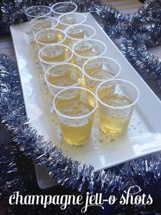 Champagne Jell-O Shots. A surefire crowd hit on New Year's Eve. // Feast + West