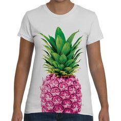 Pineapple Womens Tshirts Pink Tee Tropical by ChoosyTShirts
