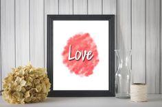 Love Watercolor Printable Wall Art Digital by TheRoyalPrints