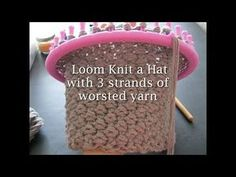 Loom Knit with 3 strands - YouTube