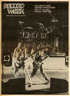 """Rush Tour Hit By Nationalist Backlash"" - Record Week, October 25, 1976"