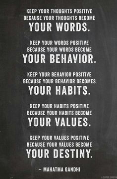 When I'm feeling hopeless it's important to remember that staying positive affects so many aspects of life.