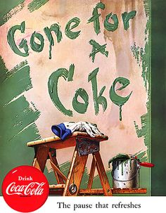 1952 ... green paint- Coke
