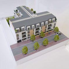 Maquette physique d'un programme immobilier