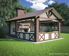 Super outdoor patio furniture with fireplace Ideas Backyard Pavilion, Backyard Patio, Gazebos, Outdoor Buildings, House Extension Design, Small Tiny House, Outdoor Furniture Plans, Pergola Attached To House, Wooden Pergola