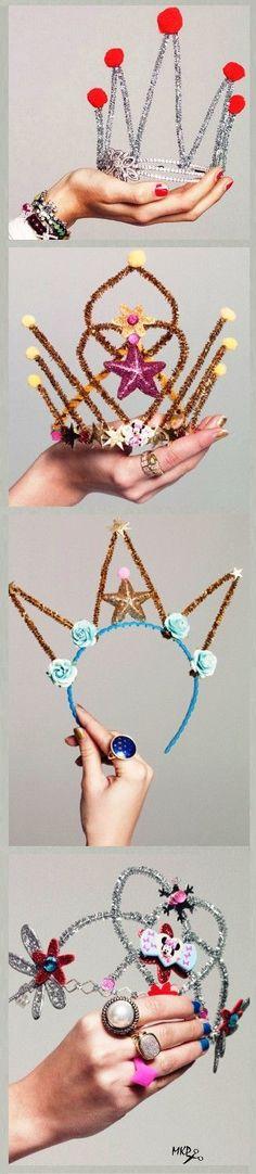 DIY fabulous crowns and tiaras! #DIYkids  #kidscrafts #partycrafts #diycrowns