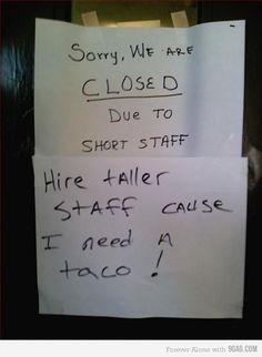 short staff, laugh, stuff, tacos, funni, shorts, humor, people, thing