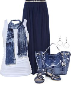 """got the blues"" by fluffof5 on Polyvore"
