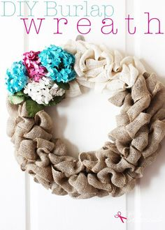 DIY Burlap Wreath Tutorial at Positively Splendid for a Christmas Deco craft idea