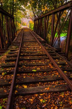 Train bridge during autumn, York County, Pennsylvania.   - Nature Fine Art Print or Gallery Wrap Canvas on Etsy, $5.00