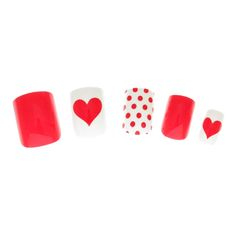 24 Pack Heart Print Stick On Nails, all, Nails, False Nails, Make Up Fashion trends, accessories and jewellery for young women