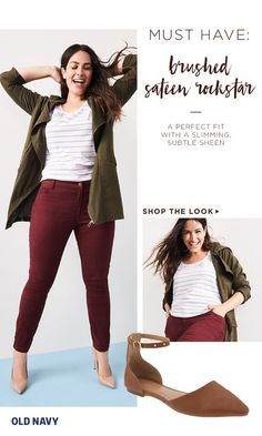 Our Rockstar jeans are the foundation of every well-stocked wardrobe. This season's take is the same perfected mid-rise Rockstar fit, combined with ultra-comfortable brushed sateen fabric. It's available in six amazing colorways for all your cold weather styling needs. We're pretty partial to styling colored denim with a utility jacket, pointed flats, and crystal statement necklaces.