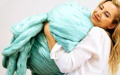 Epic extreme pure merino wool - totally huggable! #giantknitting #knitting #wool #merino #fashion #designers #homedecor Giant Knitting, Knitting Wool, Yarn Needle, Diy Kits, Fashion Designers, Merino Wool, Pure Products, Stylists
