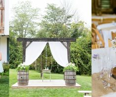 """Every couple wants the perfect backdrop for their """"I do"""" moment, but with so many options out there, how will you possibly choose? To help you out, I put together a list of 10 breathtaking backdrops that would be perfect for your rustic chic style wedding.For more backdrop inspiration for your outdoor ceremony, check out this post. 1. Hearts on Strings 2. Classic Wooden Arch 3. Greenery and Tulle 4. Bright Flowers and White Doors 5. Old Barn Doors 6. Sparkling Lights 7.Flowing Ribbons 8…"""