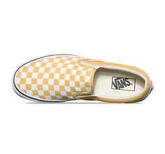 Yellow Checkered Vans #yellow #vans #vansoldskool #style #fashion #vansshoes #vansoffthewall