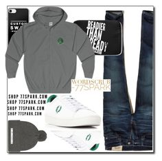 """What a man! By 77spark"" by eldinreham ❤ liked on Polyvore featuring Hollister Co., Fred Perry, men's fashion and menswear"