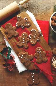 Vegan Gluten Free Gingerbread Men. Men??? They go to all that trouble and they are still men??? These are People! Nay, INDIVIDUALS wink wink Mason!