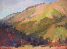 "Slopes of Volcan, Near Julian, CA by Catherine Grawin Oil ~ 14"" x 18"""