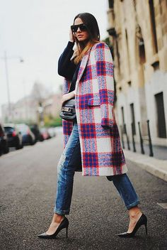 #Zara plaid coat , want want want !