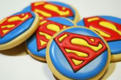 Superman Cookies #50thbirthday #50th #birthday #cookies