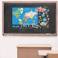 These interactive wall stickers for kids are the ultimate geography timesaver providing all the states, capitals, and geographic information ready to stick on the maps. The sticker sets are removable, reusable, and will not damage your walls when it's time to move. Use it for years to come and store them when finished or use them as decorative wall stickers your kids can engage with in their play or study area or keep them in common areas for everyone to learn. Supplemental activities…