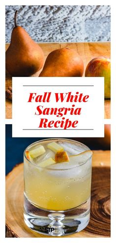 White Wine Sangria Recipe With Pears And Les