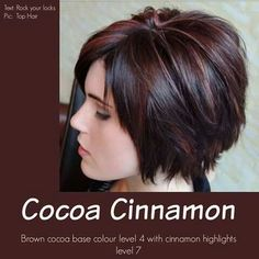 I love the coco brown & cinnamon highlights.  Beautiful!