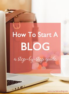 Blogging is a fantastic tool to help get your business seen or start earning extra income from home. Learn how to set up your own blog with this easy step-by-step guide! #blogging www.mariebranding.com