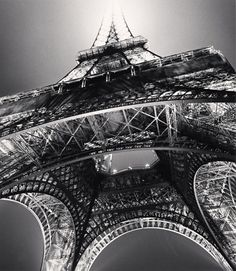 Eiffel Tower, Study 3, Paris, France by Michael Kenna